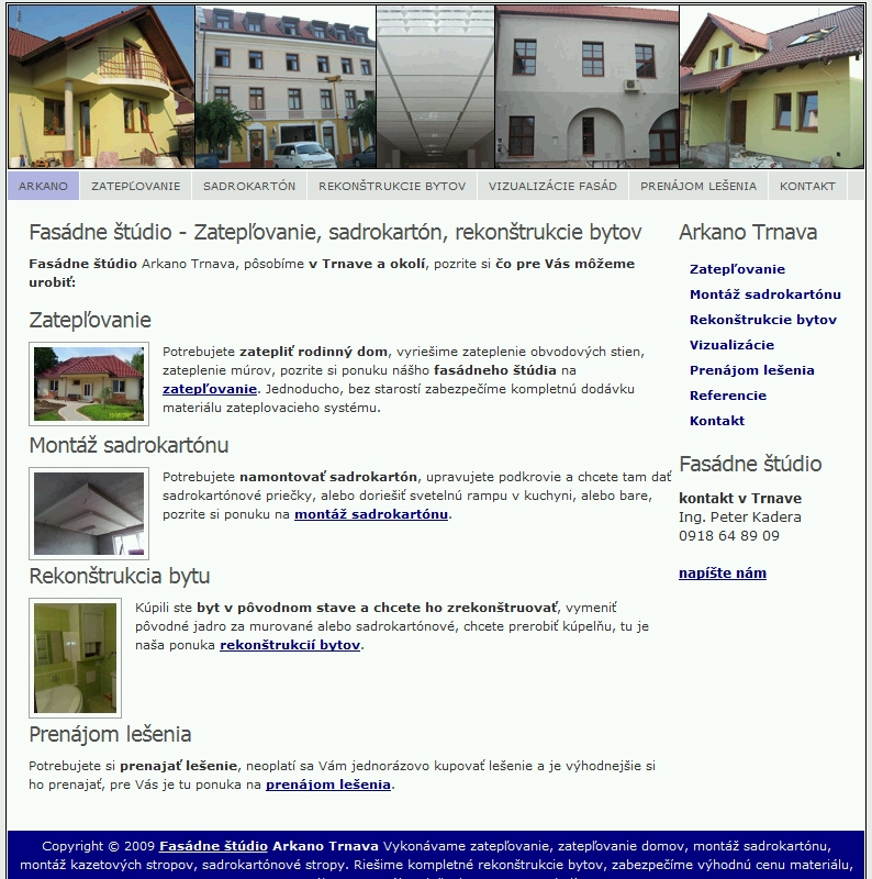 Webstránka pre živnostníka